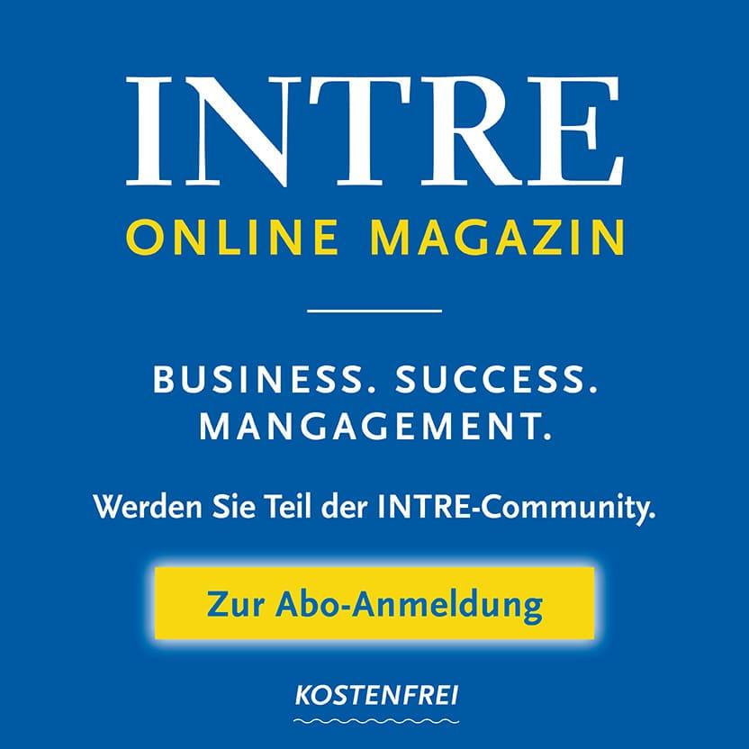Zur INTRE Online Magazin Abo-Anmeldung Anmeldung