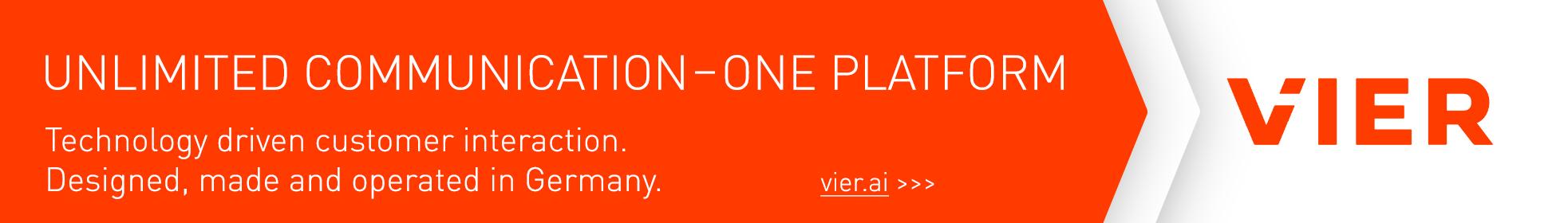 Unlimited communication - one platform: vier.ai